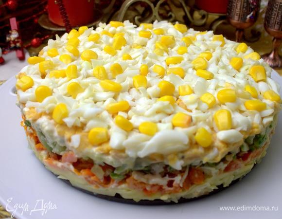 Закусочный торт с печенью трески