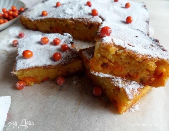 Пирог с морковью и облепихой