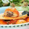 Картофельные биточки с луком и шпротами
