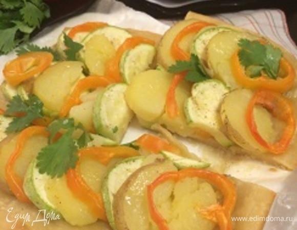 Ленивый овощной пирог