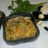 Овощной салат с куриными сердечками по-корейски