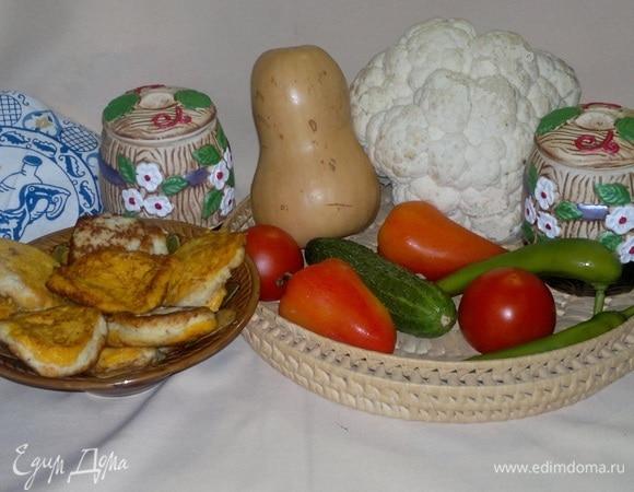 Оладьи из цветной капусты с тыквой