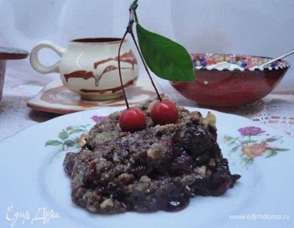 Крамбл шоколадно-вишневый