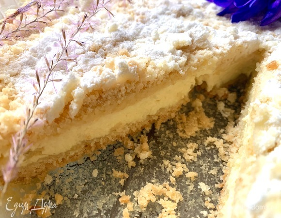 Пирог с лавандой и лаймом