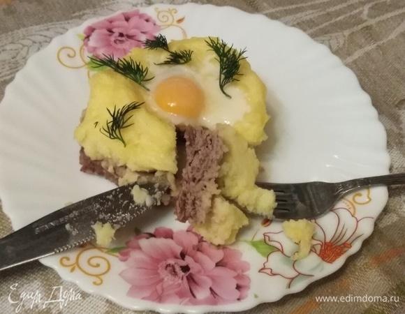 Куриные гнезда с картошкой