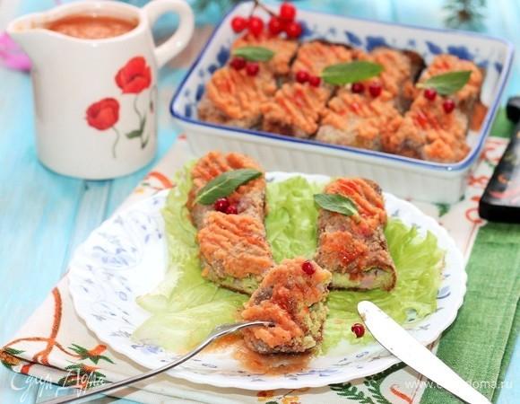 Ветчинно-сырная закуска с соусом