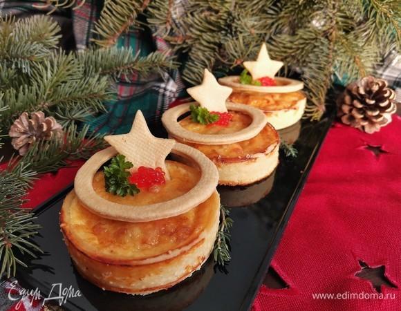Закусочные тарты с креветками в сливочном соусе