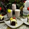 Кекс с молочным смузи