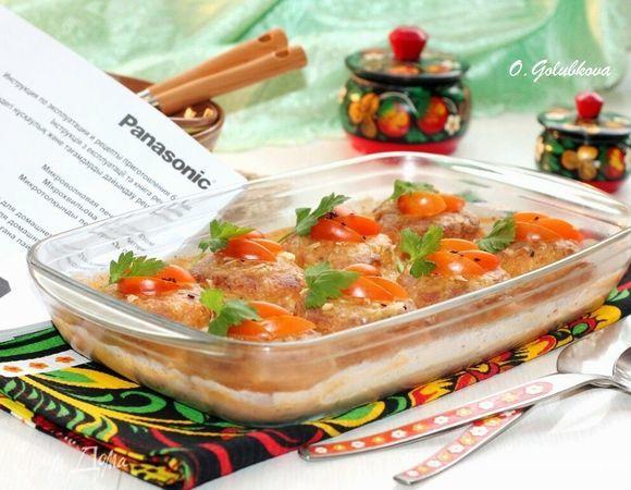 Рыбные котлеты, запеченные в молочном соусе