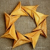 Блины-треугольники с грибами и сыром