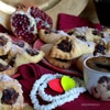 Песочное печенье с сухофруктами и джемом