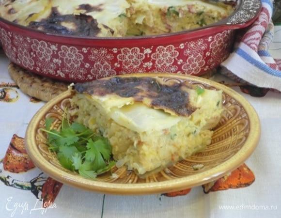 Капустный пирог с картофелем