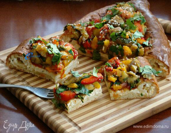 Хачапури с запеченными овощами