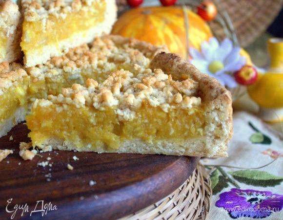 Пирог с тыквенно-цитрусовой начинкой
