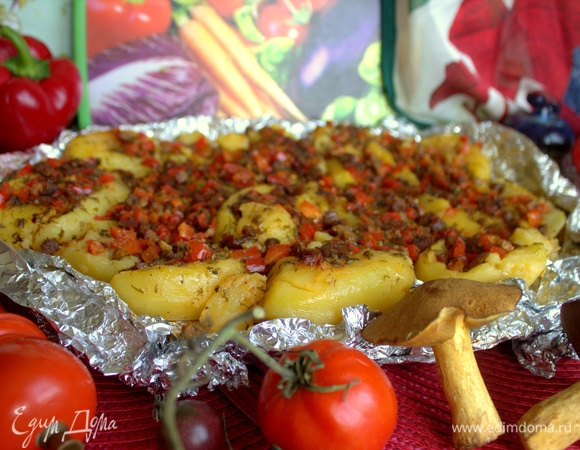 Мятый картофель в духовке