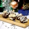 Шоколадные конфеты со сливочным сыром и лавандой