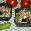 Овощной салат со сметанной заправкой