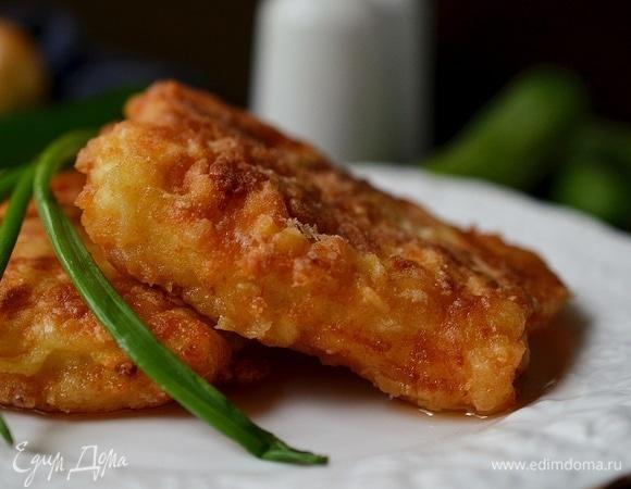 Хрустящая рыба в сырном кляре