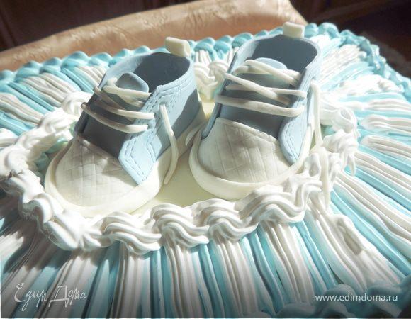 Детские кроссовочки из мастики