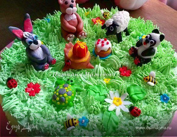Забавные зверушки из мастики: зайчик, панда, овечка