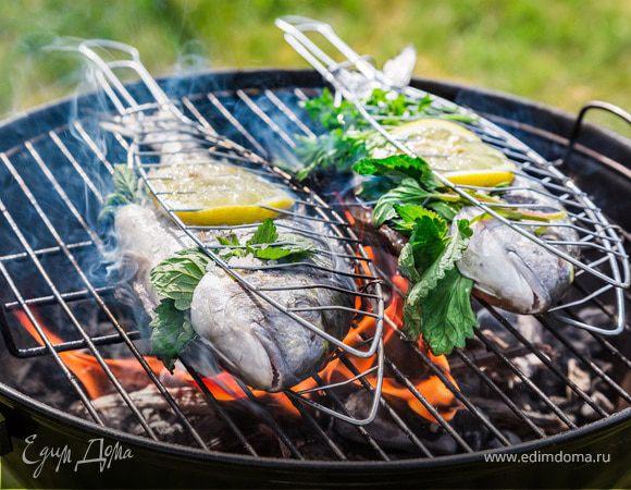 Как приготовить рыбу на углях на решетке