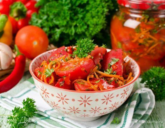 Быстрый мастер-класс: готовим помидоры по-корейски