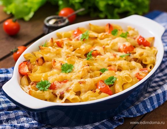 Запекаем макароны с разными добавками в духовке