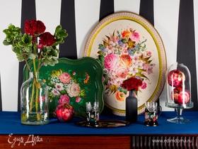 Русский стиль: жостовская роспись в современном интерьере