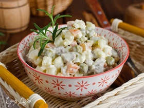 Салат оливье: калорийность и энергетическая ценность