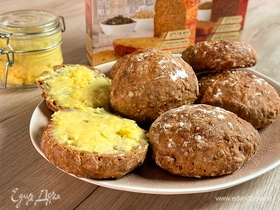 Научи меня печь! Домашние английские булочки с апельсиновым кремом