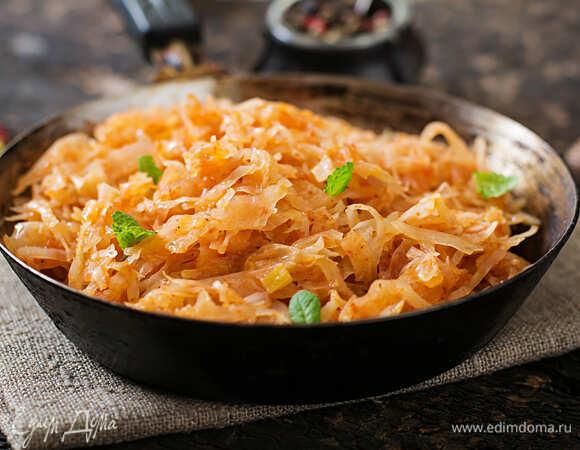 Рецепты тушенной и жаренной на сковороде капусты