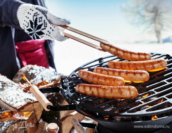 Пикник зимой: готовим шашлыки и закуски на природе