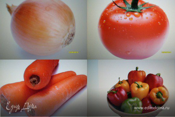 Овощи варить вместе с курой до готовности мяса птицы.