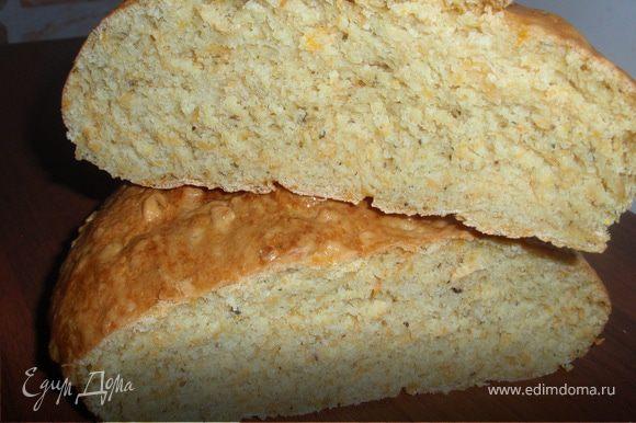 Готовый хлеб накрыть пергаментной бумагой и укутать в полотенце минимум на 1 час. Приятного аппетита!!!