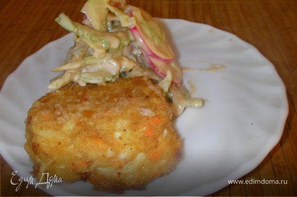 Подавай со свежим салатом http://www.edimdoma.ru/recipes/23074