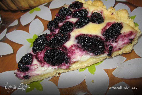 После того как тарт остыл, режим его на кусочки и едим.) Приятного Вам аппетита.)