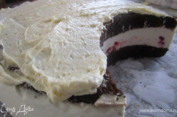Покрыть торт.
