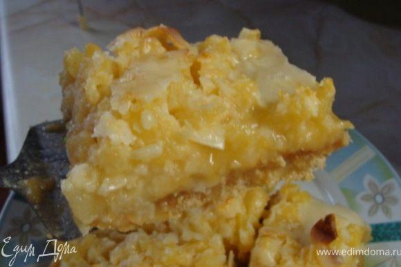 Подавать ананасово-кокосовые брусочки холодными или комнатной температуры. Приятного аппетита!