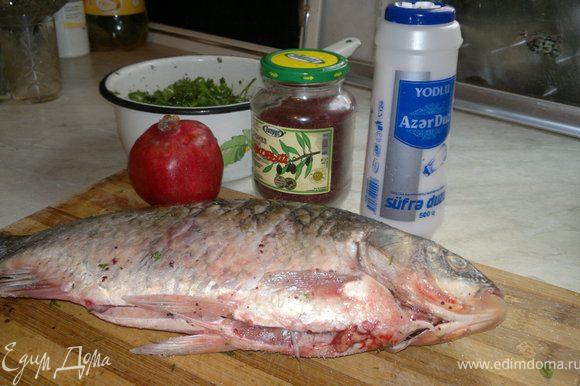 берём рыбу,солим перчим