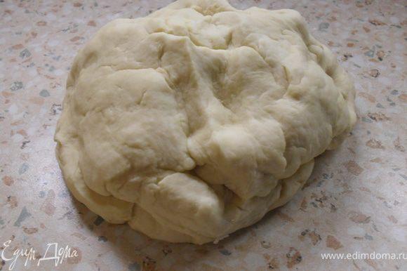 Вымешиваем тесто и оставляем на 1 час в тёплом месте.