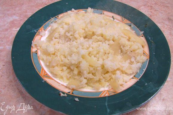 Из кастрюли достаньте сварившиеся клубни картофеля. Лучше всего в этот момент положить тимьян, чтобы он успел отдать свой вкус и запах. Сделайте огонь под кастрюлей выше среднего. Положите в бульон с мясом свеклу и морковку. Перемешайте. После закипания положите нарезанный картофель. Перемешайте. После закипания положите капусту. Перемешайте. Положите зажарку из сковороды. Разомните картофельные клубни, которые вы до этого достали.