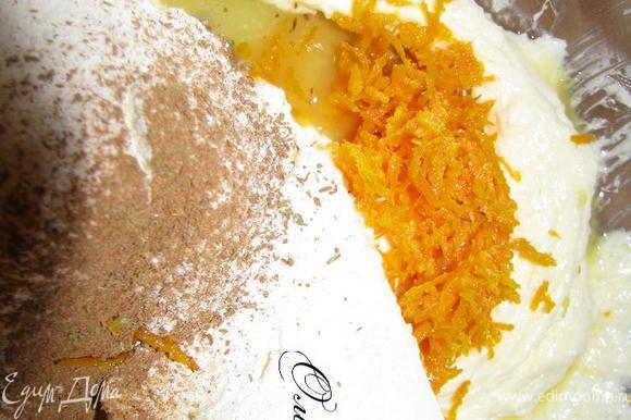Добавляем к яично-масляной смеси муку, специи, цедру и сок имбиря. Замешиваем тесто, формируем шар, заматываем его в пищевую пленку и отправляем в холодильник на 1 час, можно 1,5.