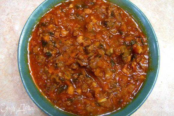 Мясной соус а ля Болонез. Рецепт в отдельном посте.