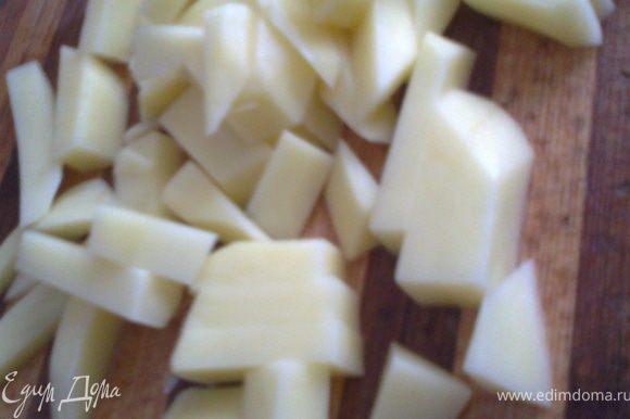 Затем добавить картофель(в оригинале его нет!)