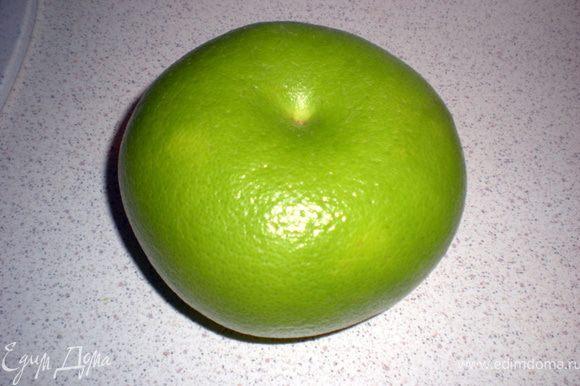 Фото свити.Можно заменить на грейпфрут,помело или апельсин,а можно и без них.Свити мне больше нравится в этом салате.Придает чуть кислинки и чуть горчинки,грейпфрут немного по грубее во вкусе,но тоже подойдет.