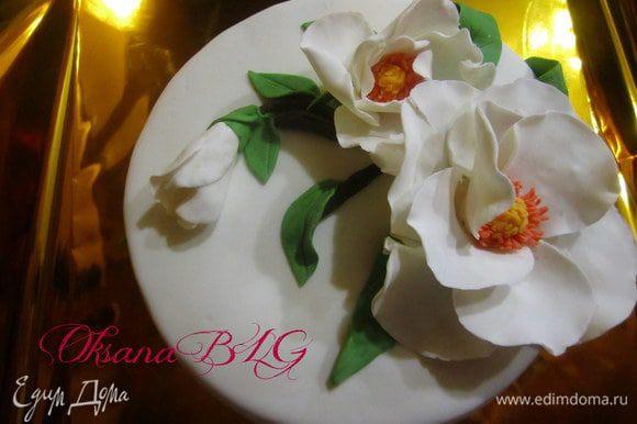 Добавить цветы по рецепту http://www.edimdoma.ru/recipes/35658