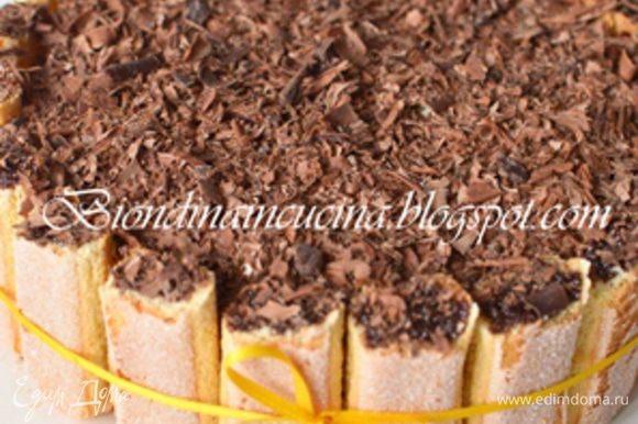 Затем выбрать из формы. Можно украсить тертым шоколадом.