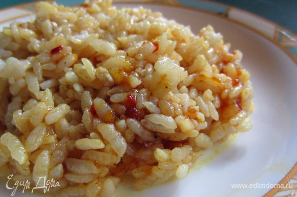 Пример блюда: Отваренный рис, слегка приправленный соевым соусом и чайной ложкой Чатни из абрикосового джема. Если в Чатни не класть Гхи, а использовать растительное масло, то блюдо получается ПОСТНЫМ.