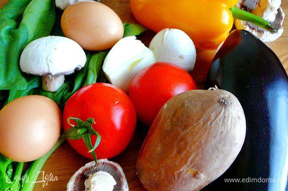 Картофель отварить в мундире.Подготовить все продукты.