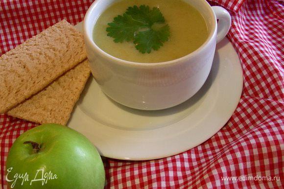 Превращаем суп в пюре, солим, перчим по вкусу. И подаем. Приятного аппетита)